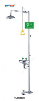 Foot-Treadle Stainless Steel Emergency Shower & Eye Wash (WJH0358B)
