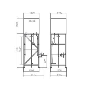 Vertical water storage type eyewash stations