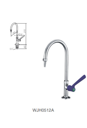 WJH0512A stainless steel lab faucet