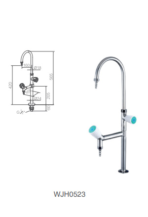 WJH0523 stainless steel lab faucet