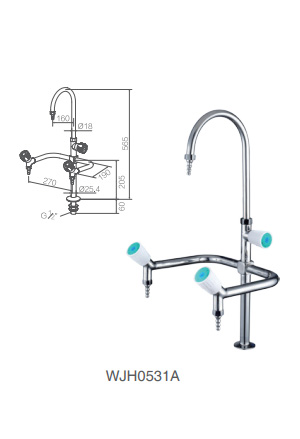WJH0531A stainless steel lab faucet