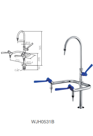 WJH0531B stainless steel lab faucet