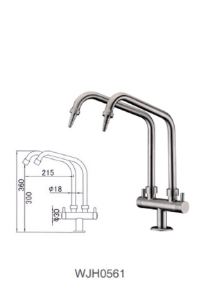 WJH0561 Stainless Steel Laboratory Faucet