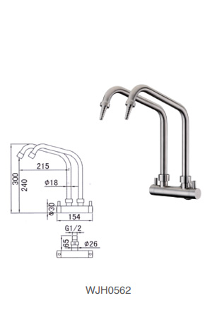WJH0562 Stainless Steel Laboratory Faucet