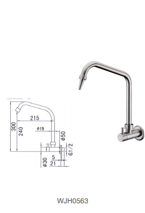 WJH0563 Stainless Steel Laboratory Faucet