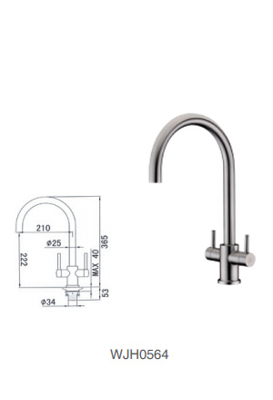 WJH0564 Stainless Steel Laboratory Faucet