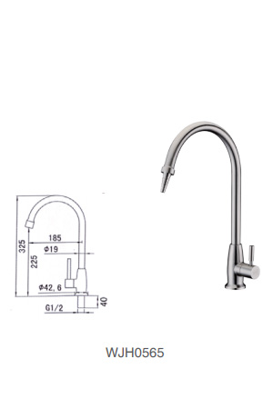 WJH0565 Stainless Steel Laboratory Faucet