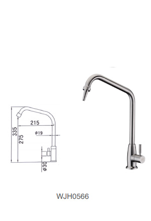 WJH0566 Stainless Steel Laboratory Faucet