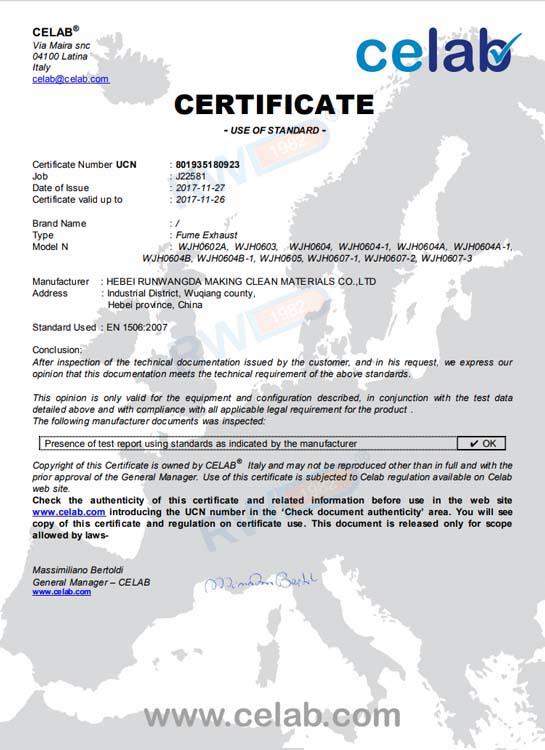 CELAB شهادة J22581