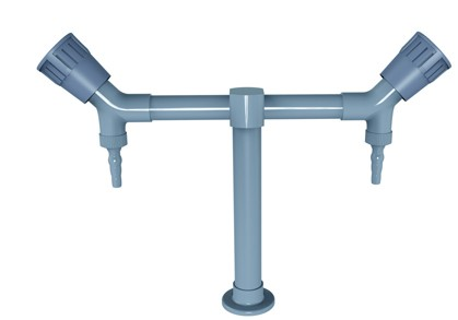 Deck Mounted Double Outlet Faucet