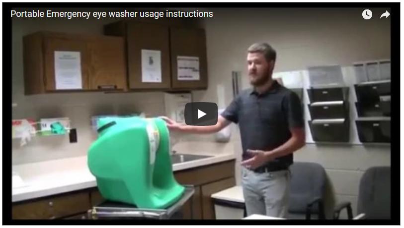 instrucciones de uso lavaojos de emergencia portátil