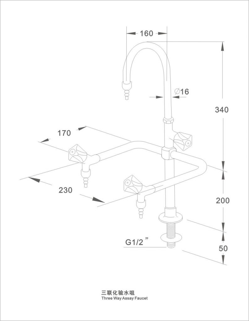 Laboratory use chemical resistant water tap/faucet laboratory sink faucet