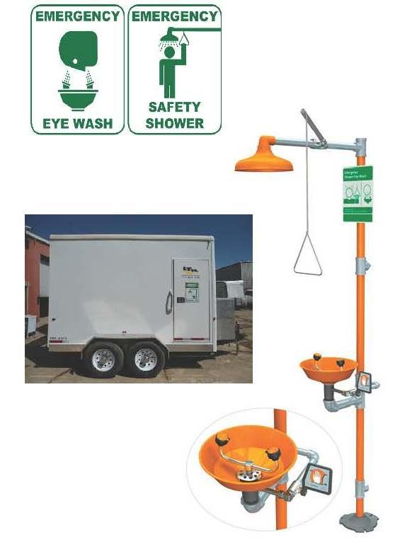 núdzový výplach očí & sprchový kút zariadenie - International Safety ...