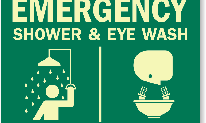 emergency-shower-eye-wash sign